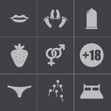 Vector black sex icons set Stock Photos