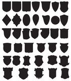 Vector Black Shields Set Stock Images