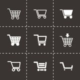 Vector black shopping cart icon set Stock Photography