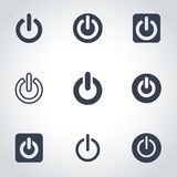 Vector black shut down icon set Stock Images