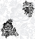 Vector Black silhouette of flower Stock Photos