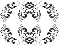 Vector black silhouette of ornament. Royalty Free Stock Images