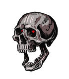 Vector black skull. Icon on white background Royalty Free Stock Images