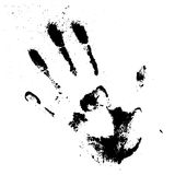 Vector black smeared hand of mascara Stock Photography
