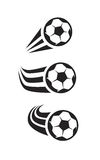 Vector black Soccer Stock Images