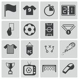 Vector black  soccer  icons Stock Images