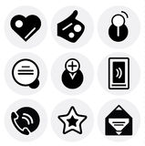 Vector black social icons. Icon set Royalty Free Stock Images