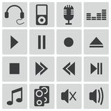 Vector black  sound icons Royalty Free Stock Image