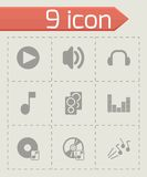 Vector black sound icons set Stock Photo