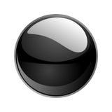 Vector black sphere. 3d  black sphere  illustration Stock Photography