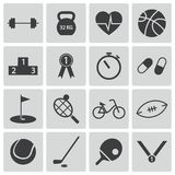 Vector black  sport icons Stock Photo