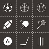 Vector black sport icons set Stock Images