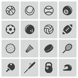 Vector black sport icons set Royalty Free Stock Photo