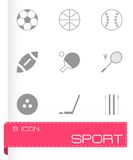 Vector black sport icons set Stock Photography