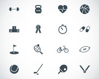 Vector black  sport icons set Royalty Free Stock Photography