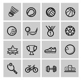 Vector black sport set Royalty Free Stock Images