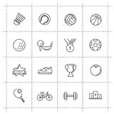 Vector black sport set on white Royalty Free Stock Photos