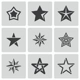 Vector black stars icons set Stock Photography