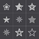 Vector black stars icons set Stock Images