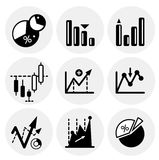 Vector black statistics icons Stock Photo