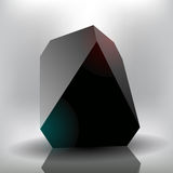 Vector black stone Stock Image