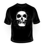 Vector. Black t-shirt collection. Scary skull Stock Photo