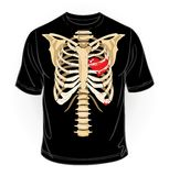 Vector. Black t-shirt collection. Skeleton with he Stock Photo