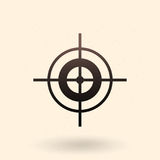 Vector Black Target Icon. On White Background Royalty Free Stock Images