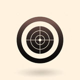 Vector Black Target Icon. On White Background Stock Image