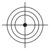 Vector Black Target Icon. On White Background Stock Images