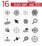 Vector black  target  icons Stock Photos