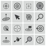 Vector black  target  icons Stock Photography