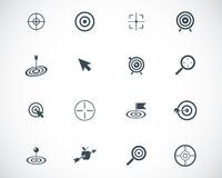 Vector black  target  icons Royalty Free Stock Photos