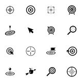 Vector black  target  icons set Stock Image