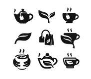 Vector black tea icon. On white background Stock Photography