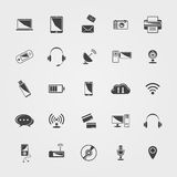 Vector black Technology icons set Stock Images