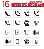 Vector black telephone icons Royalty Free Stock Images
