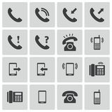 Vector black telephone icons Royalty Free Stock Image