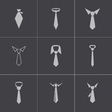 Vector black tie icons set Royalty Free Stock Photography