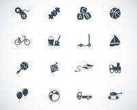 Vector black toys icons vector illustration