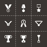 Vector black trophy and awards icon set Stock Photo