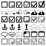 Vector black universal web icons set Royalty Free Stock Photo