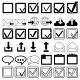 Vector black universal web icons set.  Royalty Free Stock Photo