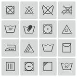 Vector black  washing    icons Stock Photo