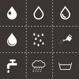 Vector black water icon set Stock Image