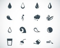 Vector black water icons Royalty Free Stock Photography