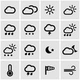 Vector black weather icons  set Royalty Free Stock Photography