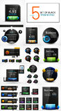 Vector black web banners design collection Stock Image