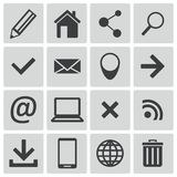Vector black  web icons Stock Photo