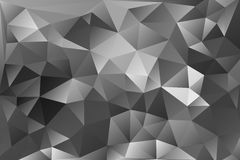 Vector abstract background of triangles. Vector black white abstract background of effect geometric triangles Royalty Free Stock Photo